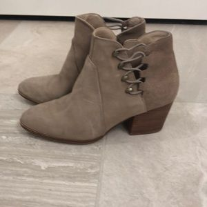 Aldo beige suede ankle boots